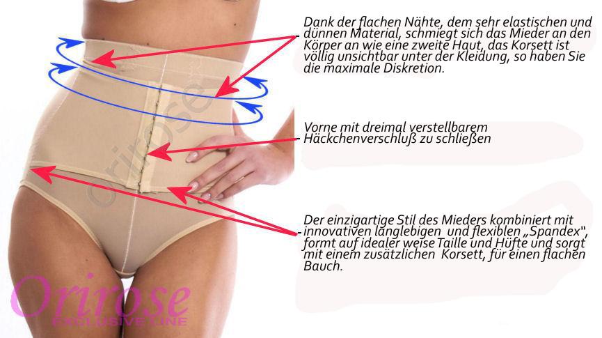 OriRose Damen Magic Miederhose Unterwäsche 3006 Schwarz S-XXXL