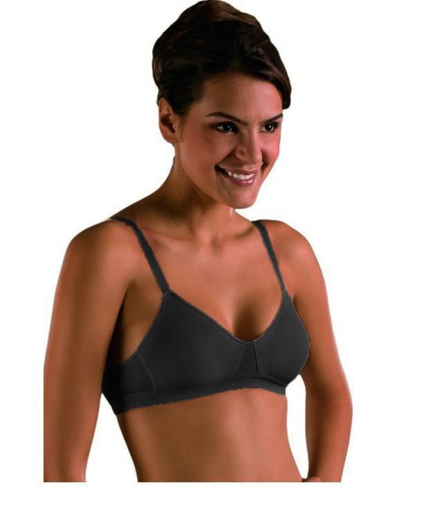Soft-BH vorgeformt T-Shirt BH Naturana 5021 schwarz weiss 75-90 B C D