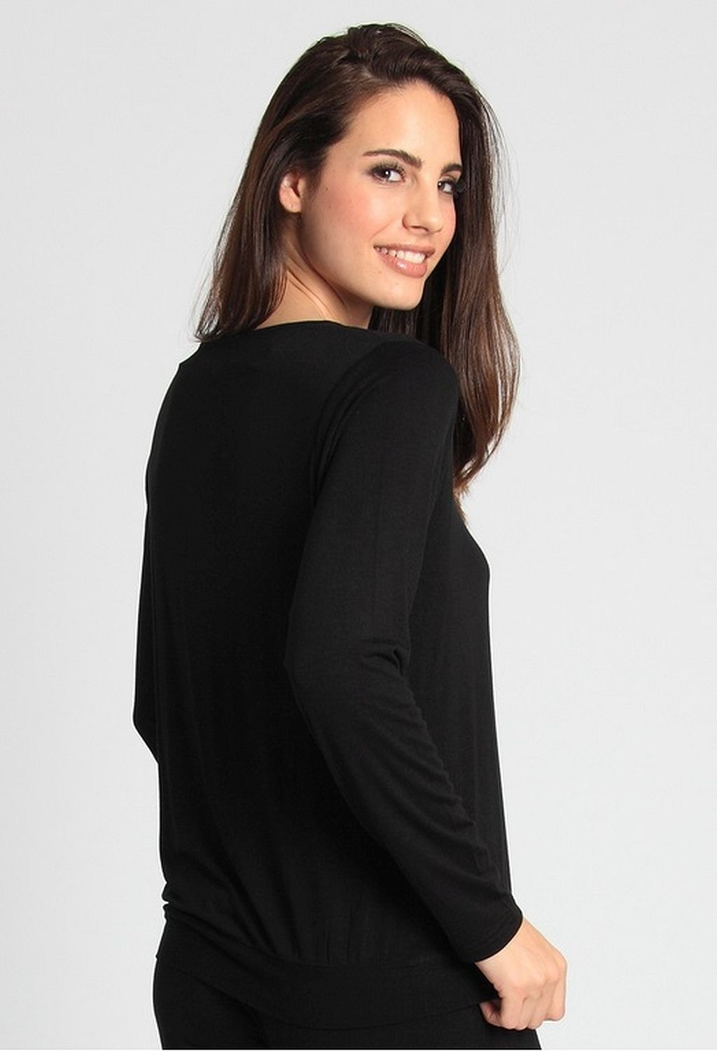 Sassa Damen Nachthemd Shirt Casual Comfort schwarz Viskose Gr 36 - 46