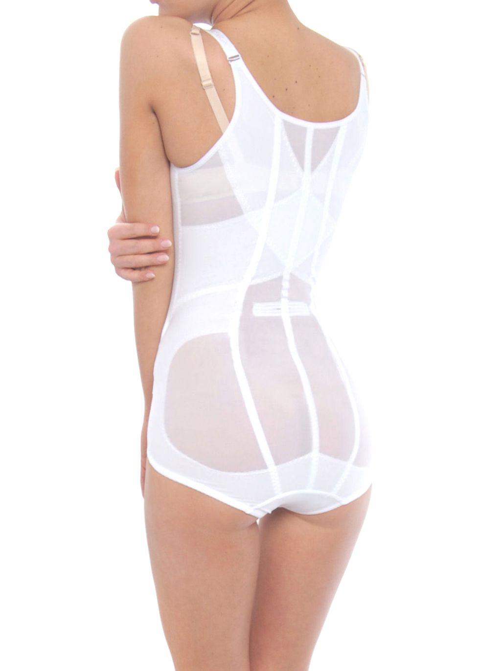 Mieder Body Shapewear Bodysuit Korselett OriRose 6209 weiß S-XXXXL