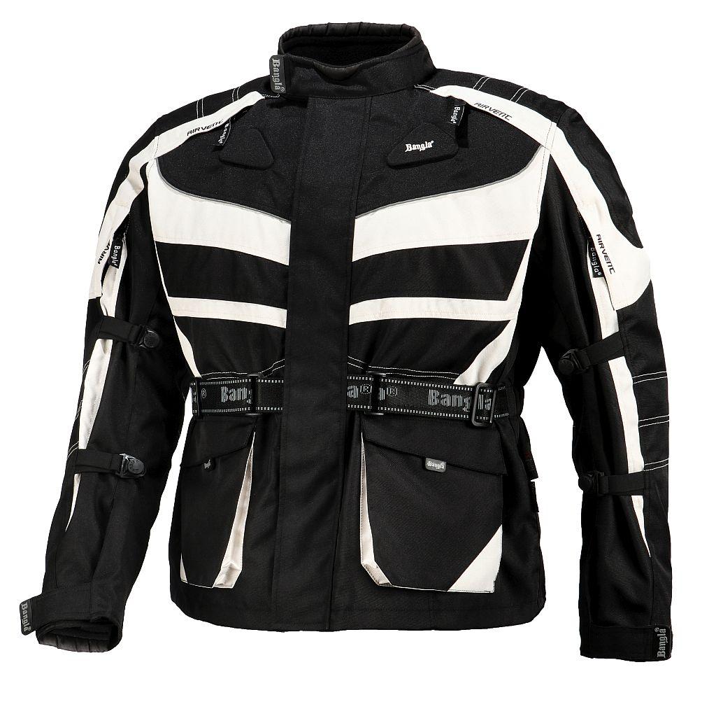 Bangla Kinder Motorrad Textil Jacke Cordura schwarz grau Motorradjacke 128 - 176