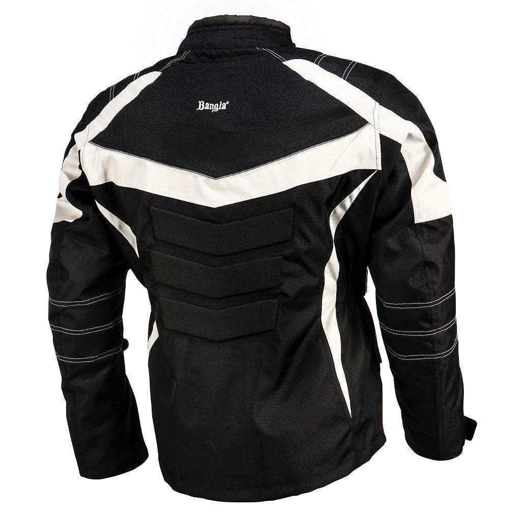 Bangla Kinder Motorradjacke Motorrad Jacke Textil Protektor schwarz grau 128-176