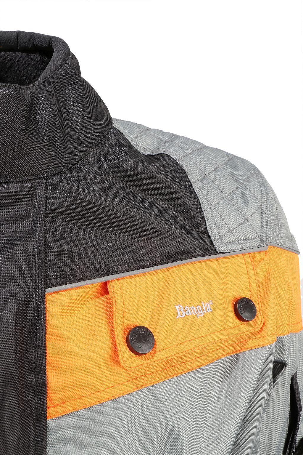 Kinder Motorrad Textil Jacke Cordura schwarz orange grau Motorradjacke 128 - 176