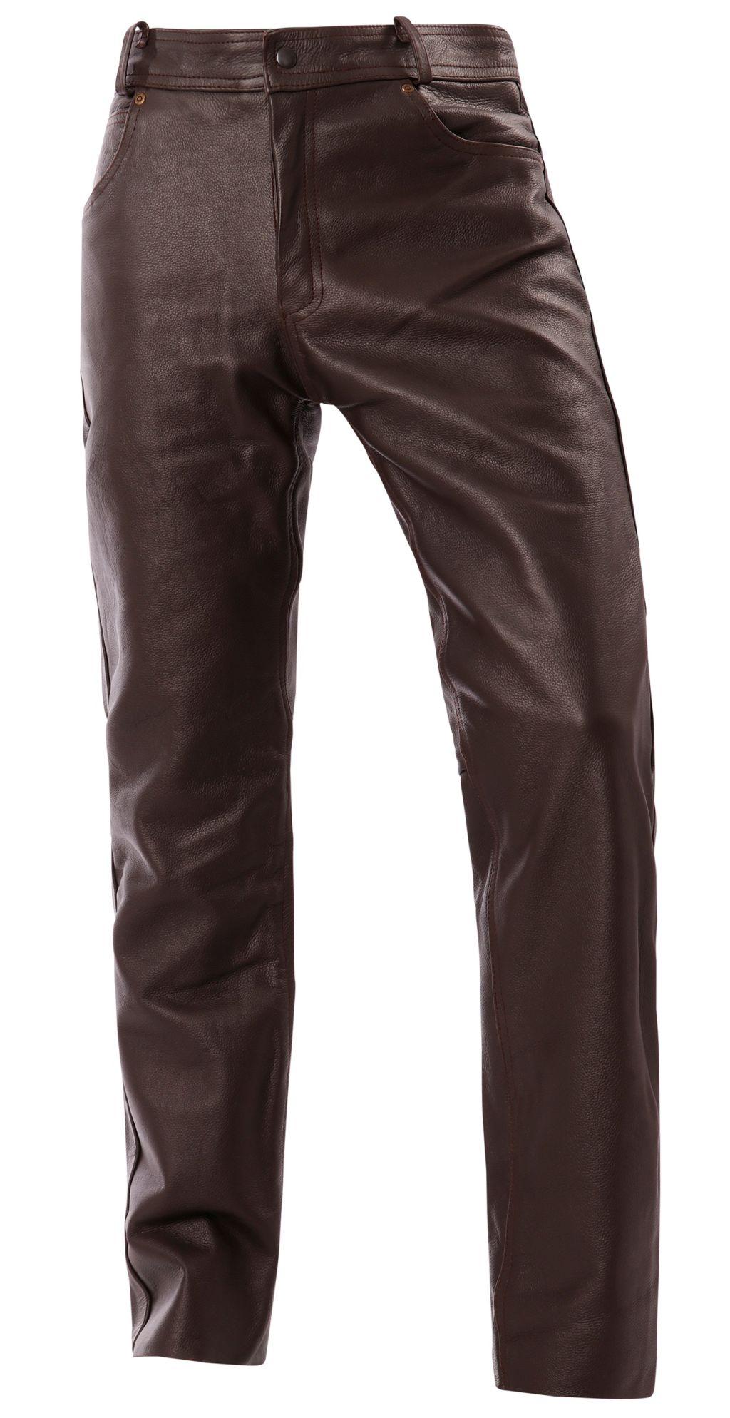 Lederjeans Jeans Leder Hose Braun Lederjeans Gr.29 - 34 NEU