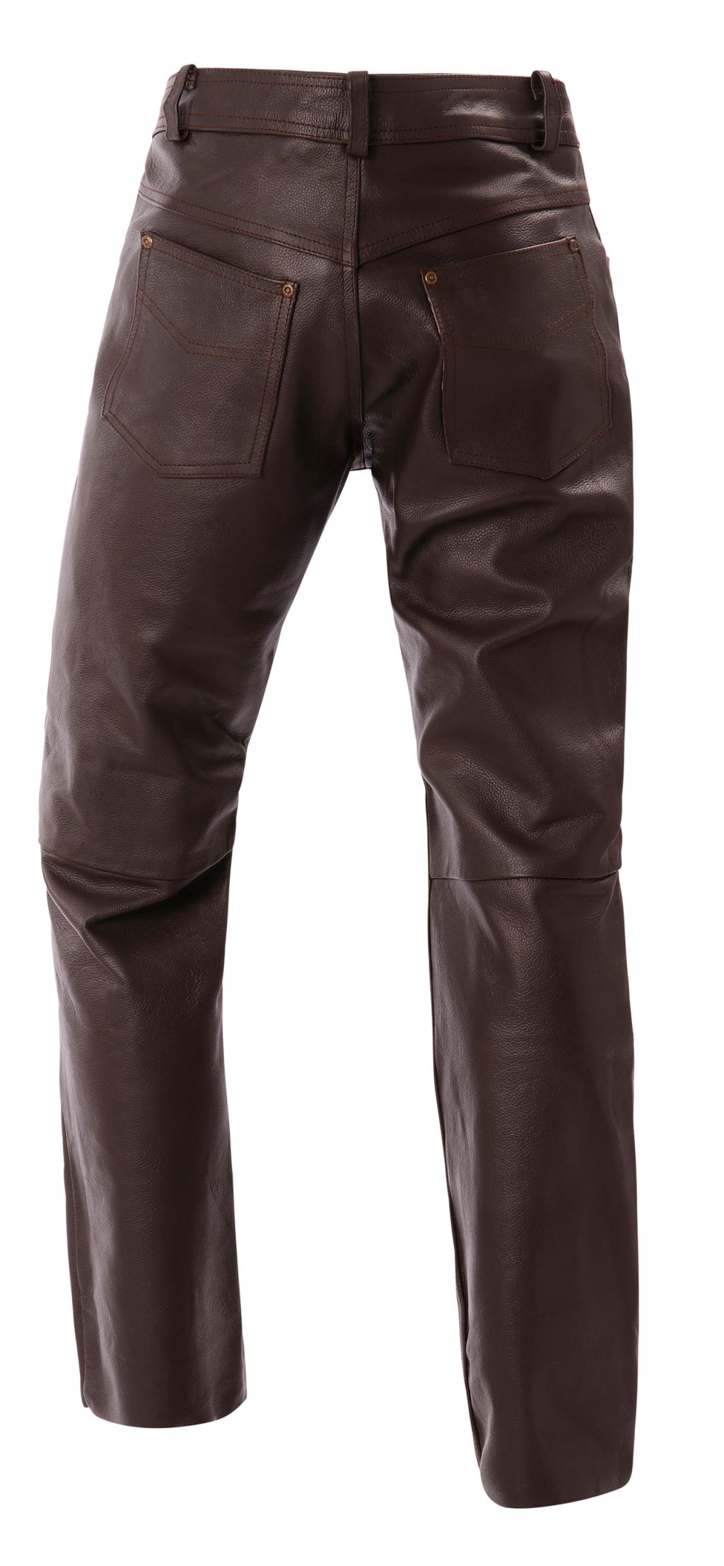 Bangla Herren Leder Jeans Hose Braun 1507 Lederhose 29 30 31 32 33 34