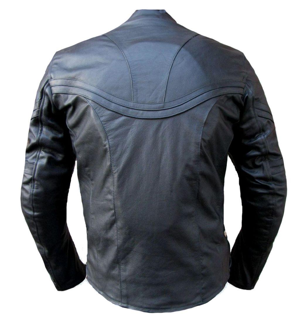 Bangla Motorradjacke Jacke Herren Motorrad Lederjacke Schwarz Leder M - XXXL