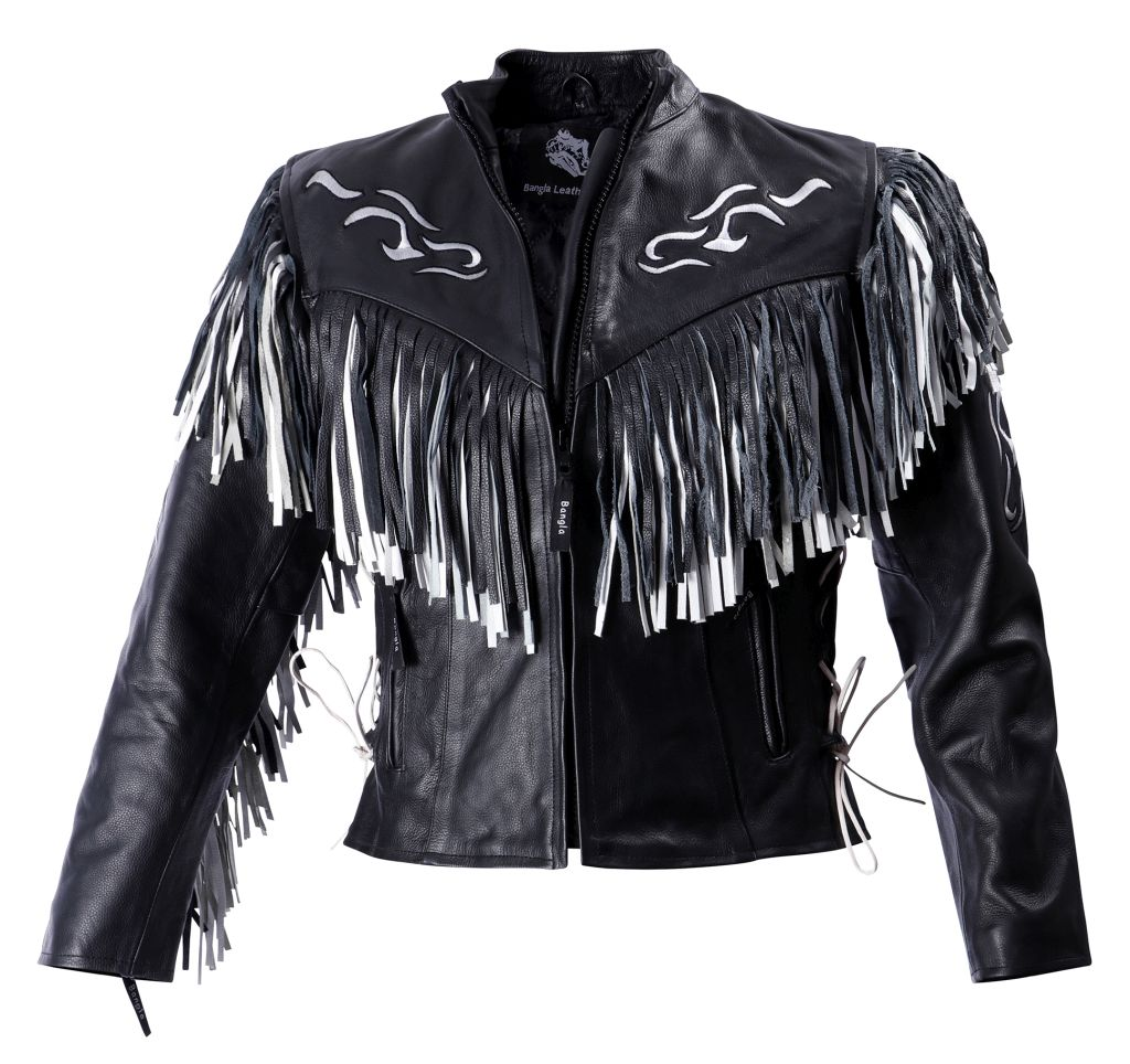 Bangla Damen Motorradjacke Lederjacke Western Chopper Jacken S - 4XL