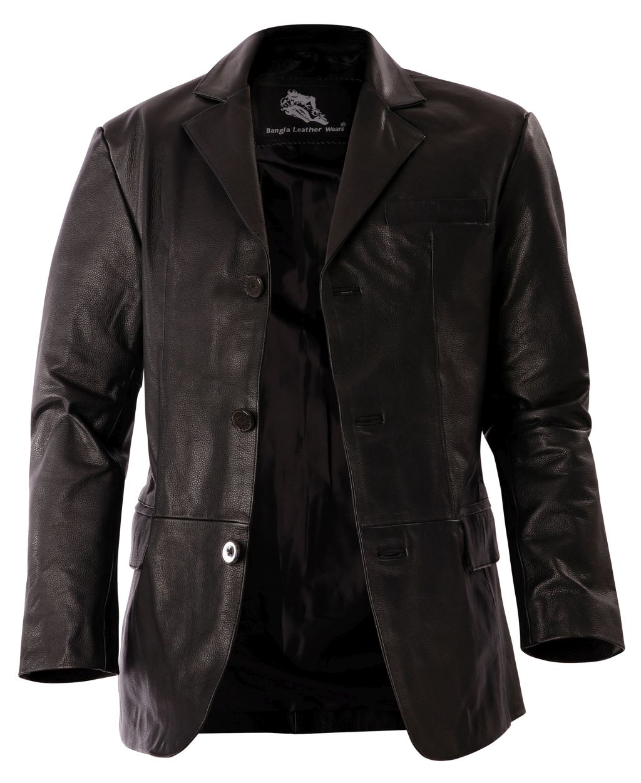 Bangla 1403 Jacke Blazer Lederjacke Herrenjacke Schwarz Gr M - 7 XL