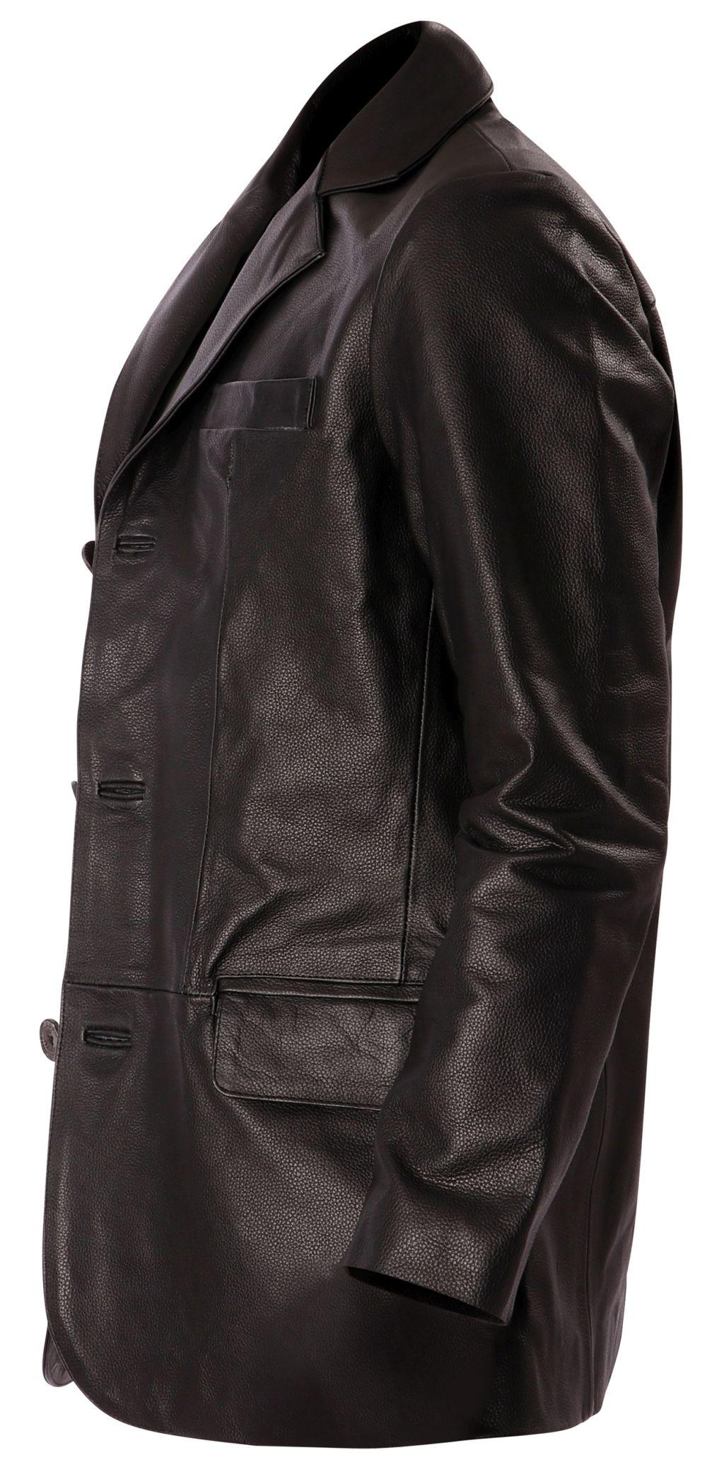 Bangla 1403 Jacke Blazer Lederjacke Herrenjacke Schwarz Gr M - 6 XL