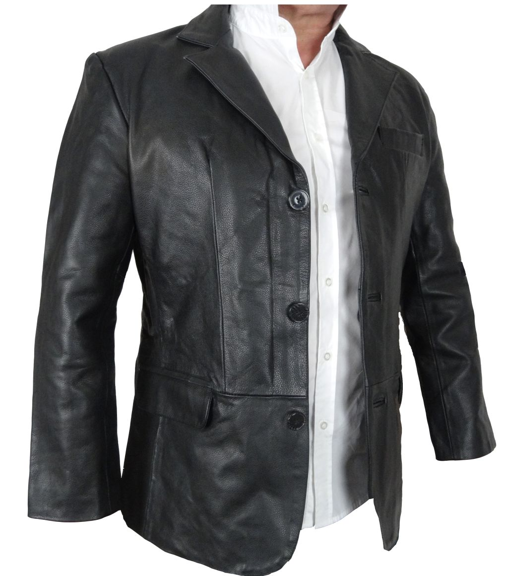 bangla 1403 jacke blazer lederjacke herren sakko schwarz m l xl xxl 6 xl ebay. Black Bedroom Furniture Sets. Home Design Ideas