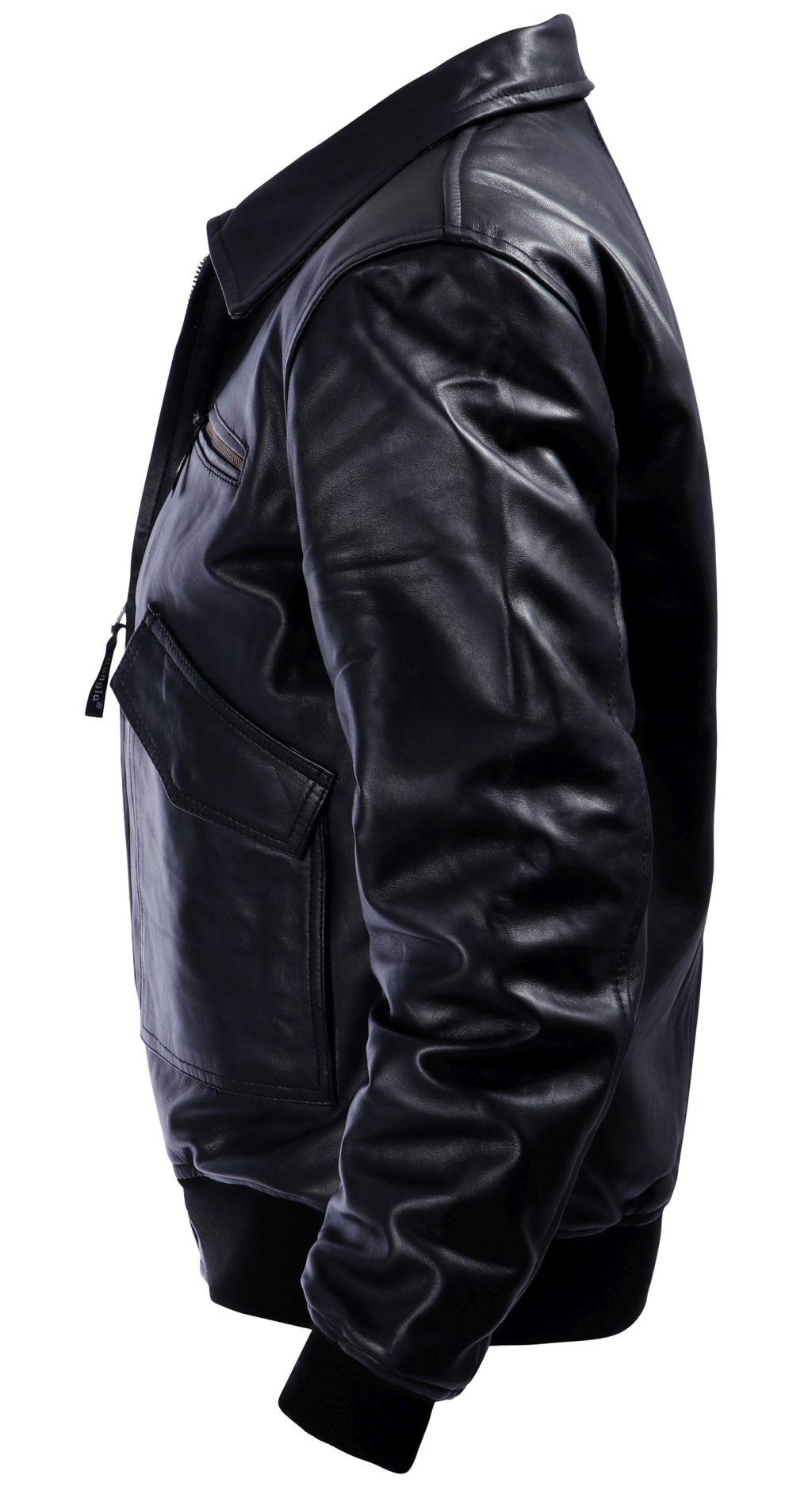 Bangla Lederjacke Herren Freizeit Jacke Schwarz  M - 6 XL