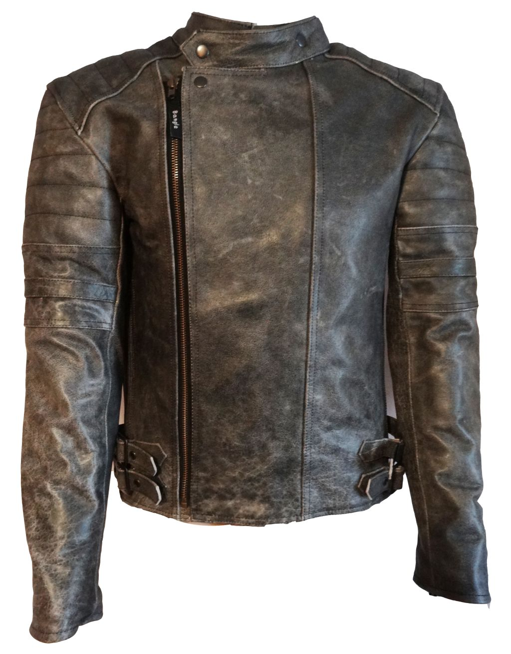 bangla retro klassik motorrad lederjacke chopperjacke protektor grau s xxxl. Black Bedroom Furniture Sets. Home Design Ideas