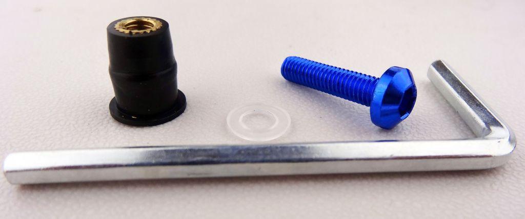 10 St. Motorrad Windschild Alu Schrauben Verkleidungsschrauben-M 6 x 30 Blau