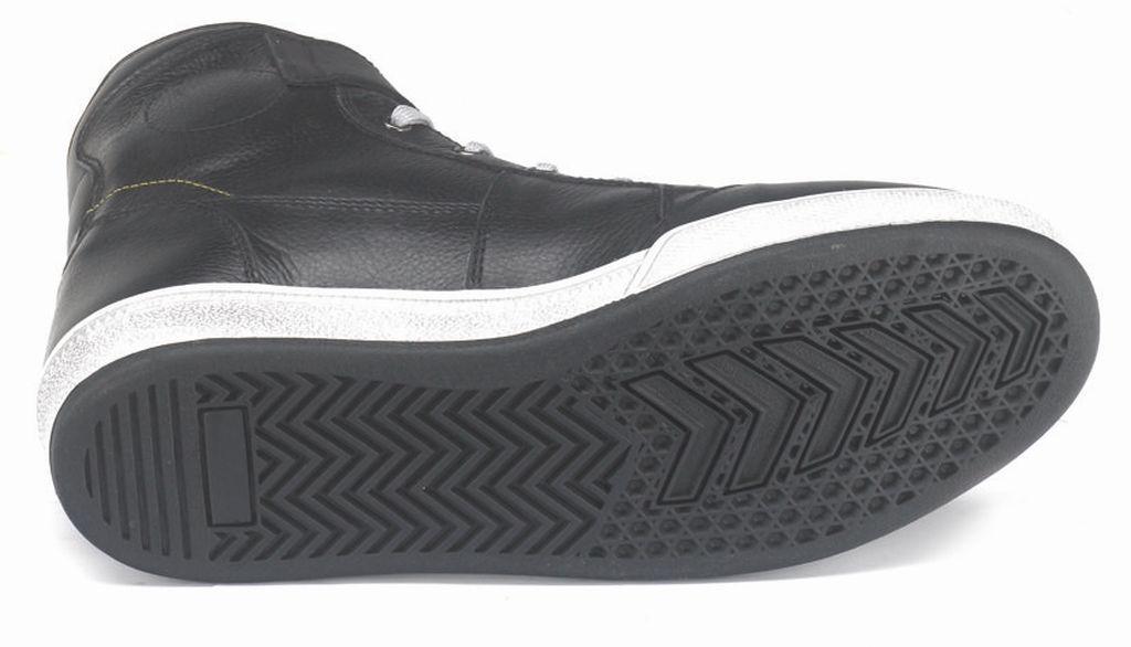 Motorrad Schuhe Allround Sneaker Kurzstiefel Brooklyn schwarz weiss 38 - 48 NEU