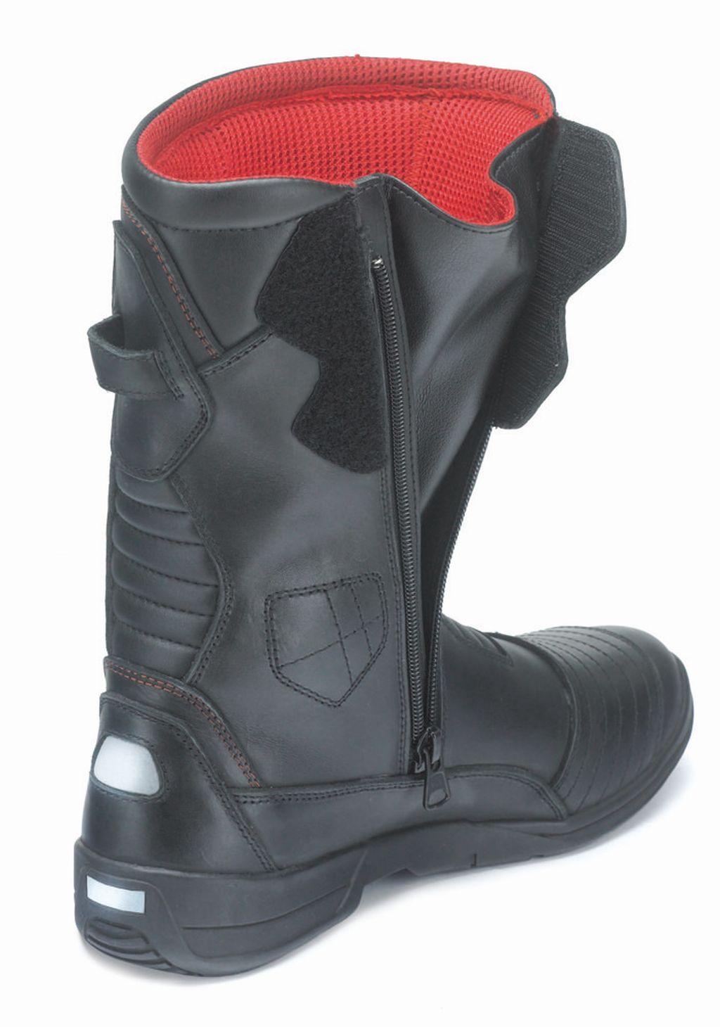 Motorradstiefel Tourenstiefel Stiefel Schwarz Leder Voyager Gr 38-47 NEU