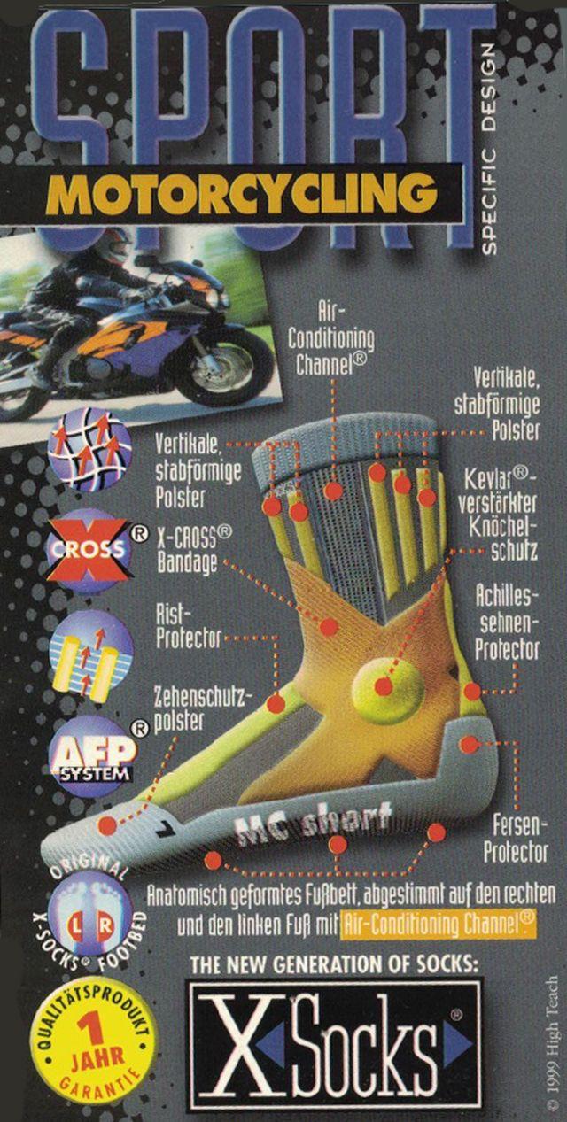 X- Socks Motorrad Socken für Motorradstiefel Motorrad Bike Tourenstiefel S - XL