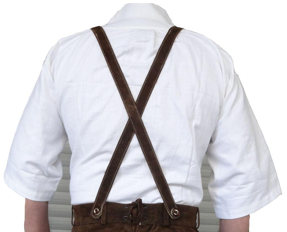 Trachtenhemd Kurzarm Baumwolle Stickerei Oktoberfest weiss M-4XL