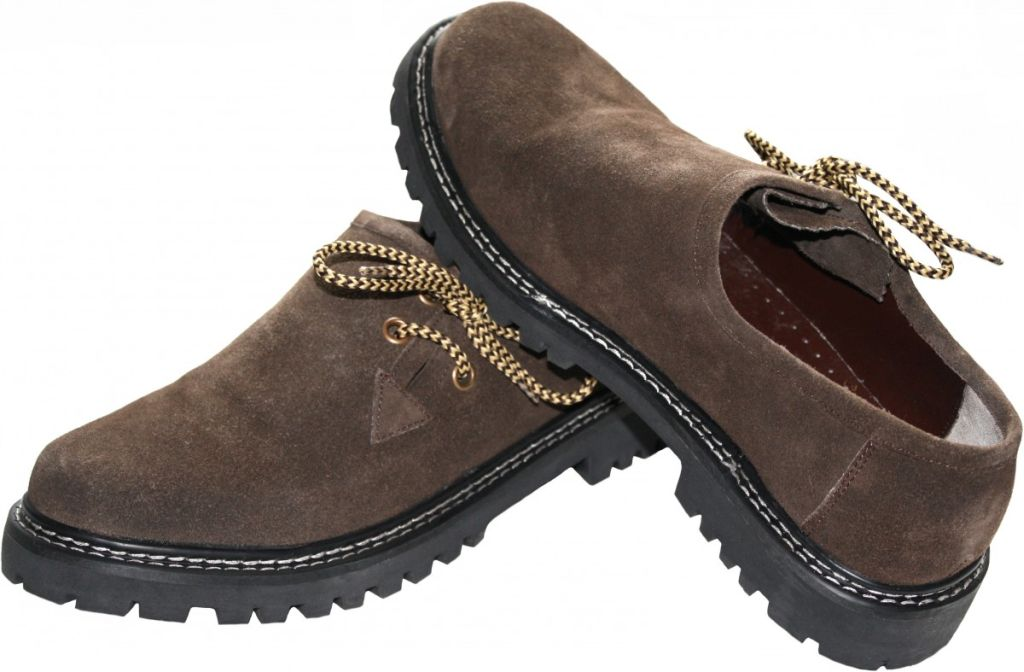 Trachtenschuhe HaferlschuheTrachten Lederschuhe Schuhe Wildleder Braun 41 - 46