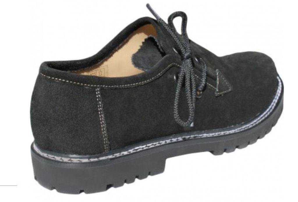 Kinder Haferlschuhe Trachten Trachtenschuhe Schuhe Velourleder Schwarz Gr 28-35