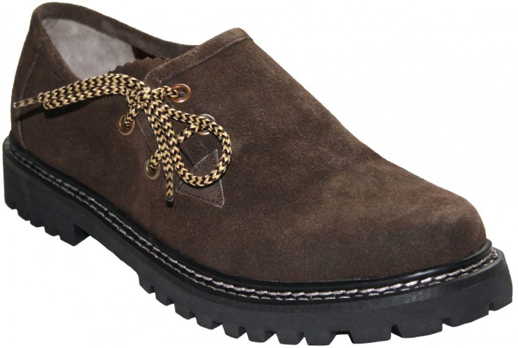 Kinder Trachtenschuhe Haferlschuhe Trachten Schuhe Velourleder Braun Gr. 28 - 36