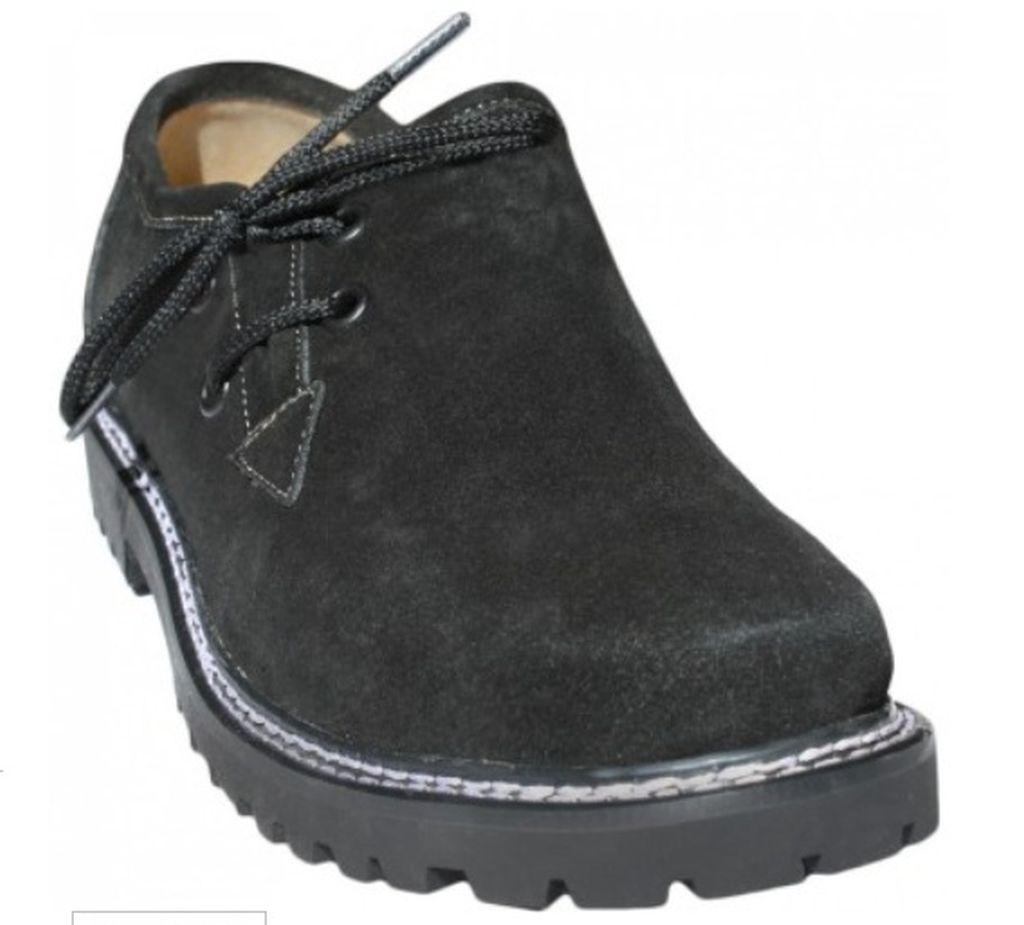 HaferlschuheTrachten Trachtenschuhe Leder Schuhe Velourleder Schwarz 41 - 46
