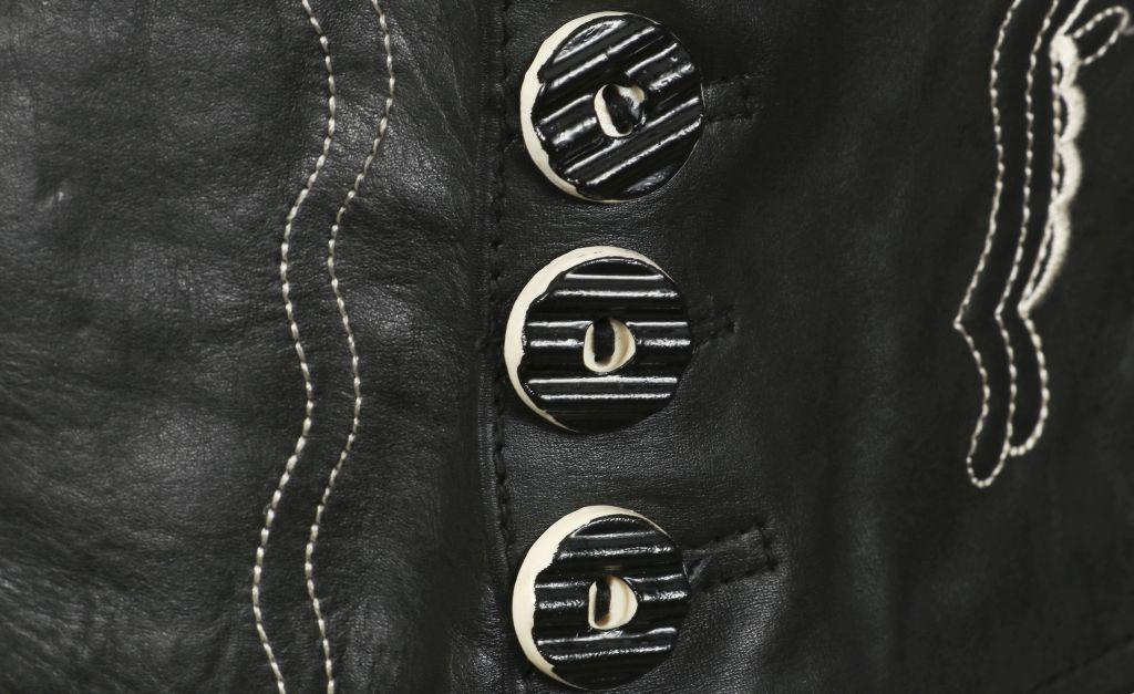 Bangla Damen Trachtenrock Lederrock kurz Rock Mini schwarz 36 38 40 42 44 46