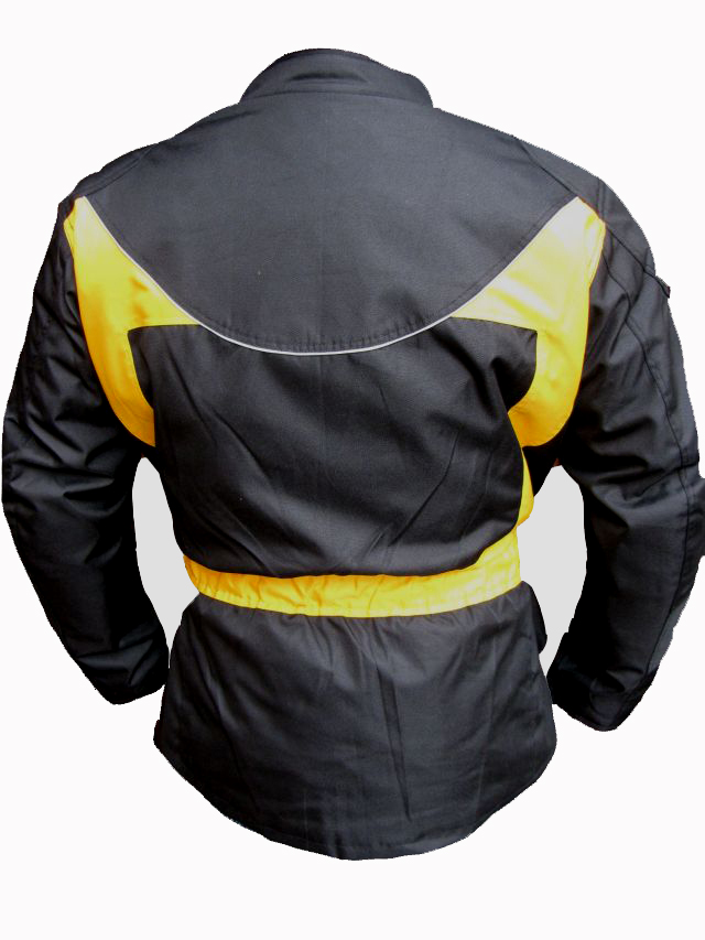 Bangla Textil Motorradjacke Motorrad Tourenjacke Schwarz-Gelb S - 8 XL
