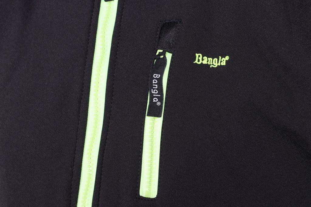 Bangla Soft Shell Motorradjacke Textil schwarz flourgelb Motorradjacke M - 4 XL