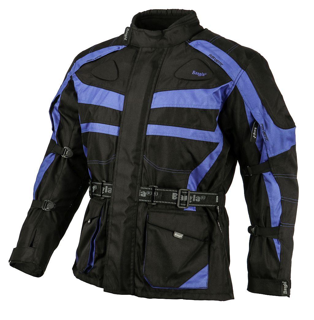 Bangla Kinder Motorradjacke Motorrad Jacke Textil schwarz blau 128 - 176