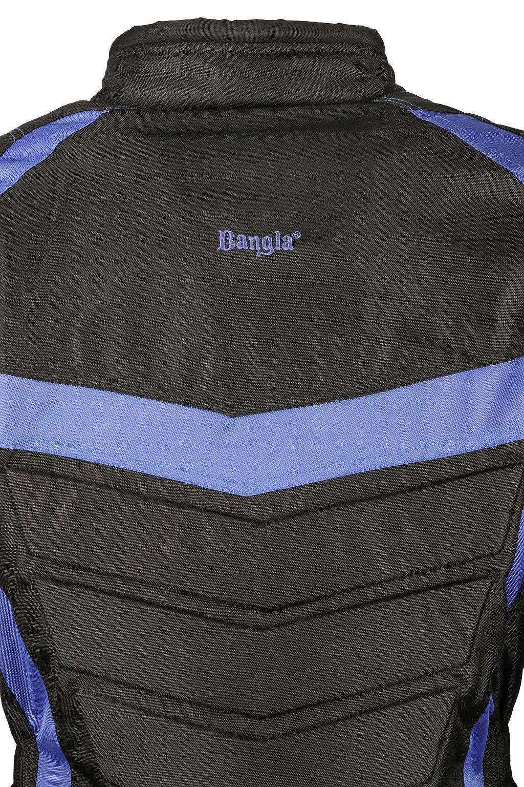 Bangla Motorrad Textil Kinder Jacke Cordura schwarz blau Motorradjacke 128 - 176