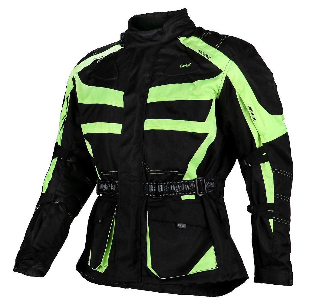 Bangla Motorradjacke Touren Jacke Textil Neon gelb schwarz Motorrad M - 6 XL