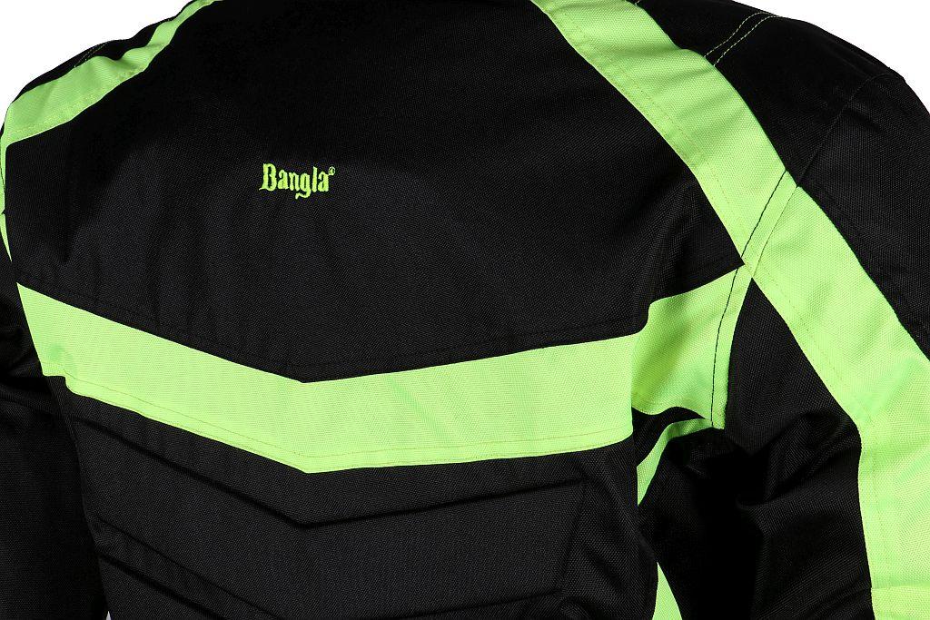 Kinder Motorrad Textil Jacke Cordura schwarz neon gelb Motorradjacke 128 - 176