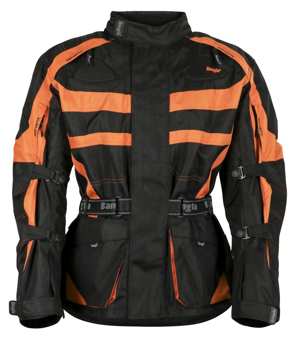 Bangla Motorrad Textil Jacke Cordura Schwarz orange Motorradjacke M - 6 XL
