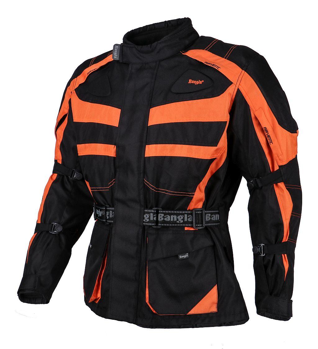 Bangla Motorrad Textil Jacke Cordura Schwarz orange Motorradjacke M - 8 XL