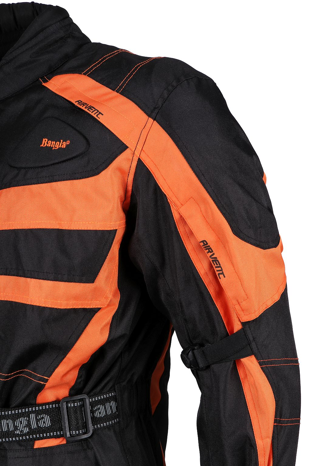 Bangla Kinder Motorrad Textil Jacke Cordura schwarz orange  128 - 176