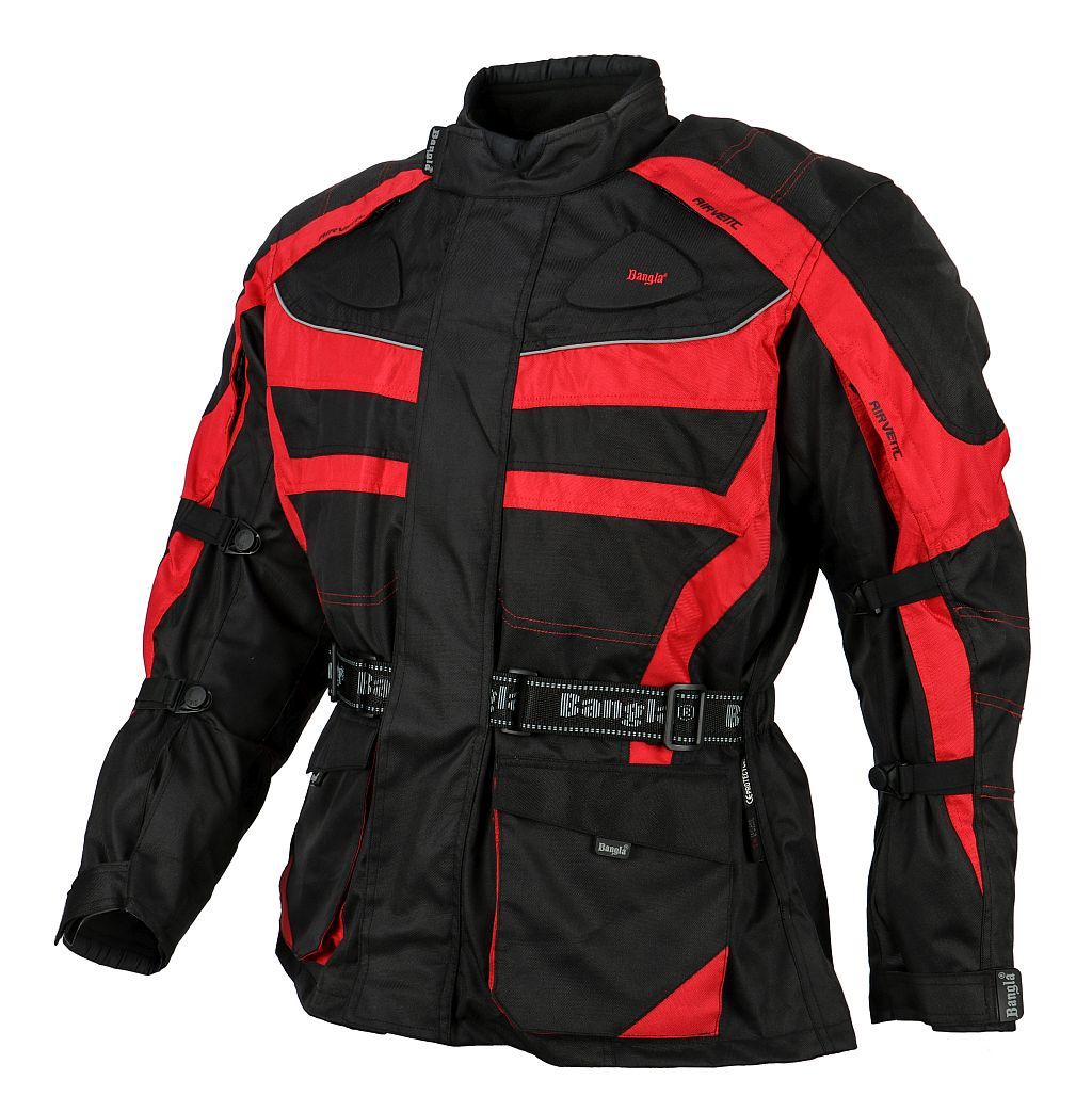 Bangla Motorrad Jacke Motorradjacke Cordura Textil schwarz rot M - 6 XL