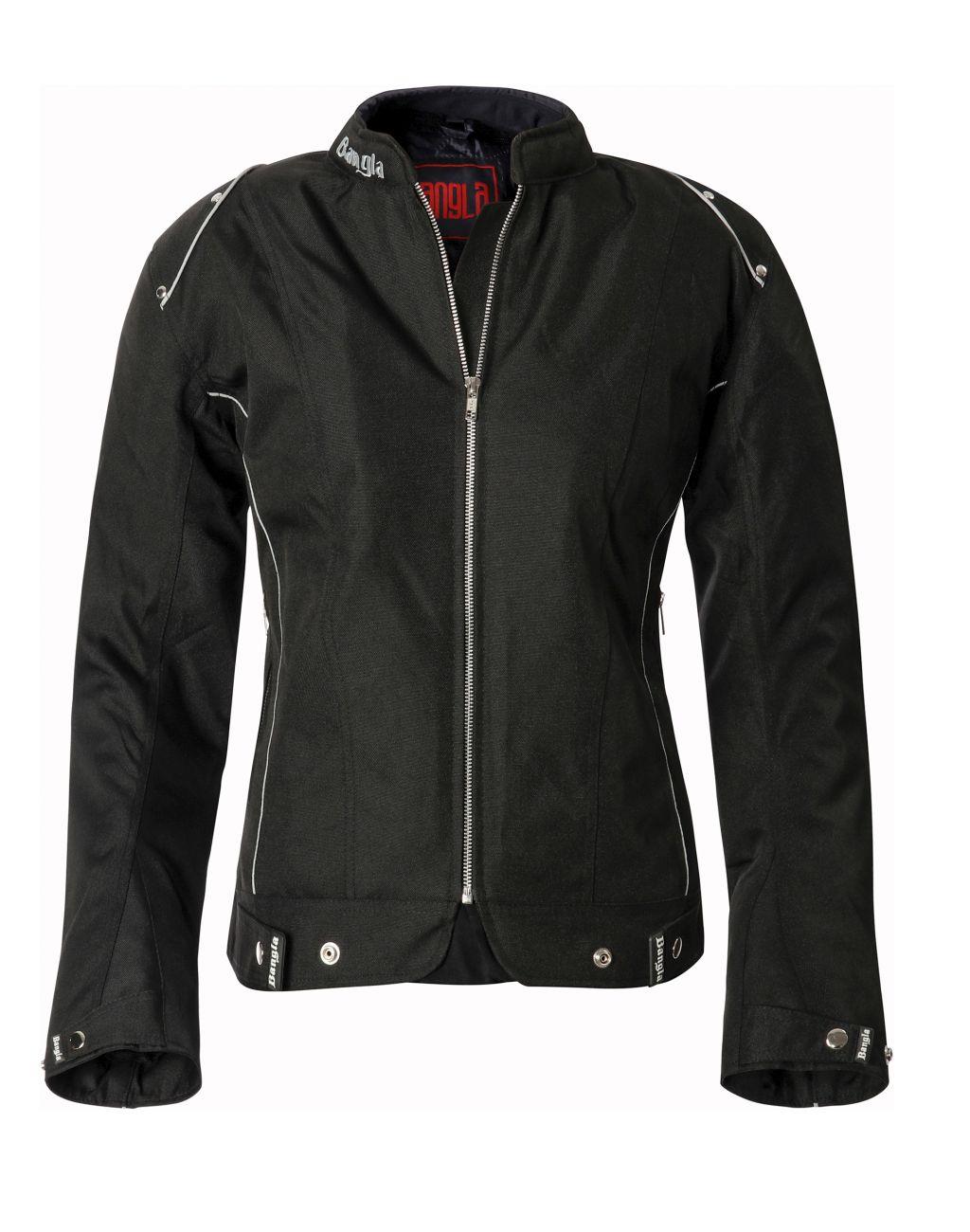Bangla Damen Motorrad Jacke Motorradjacke Textil Schwarz kurz S M L XL XXL XXXL