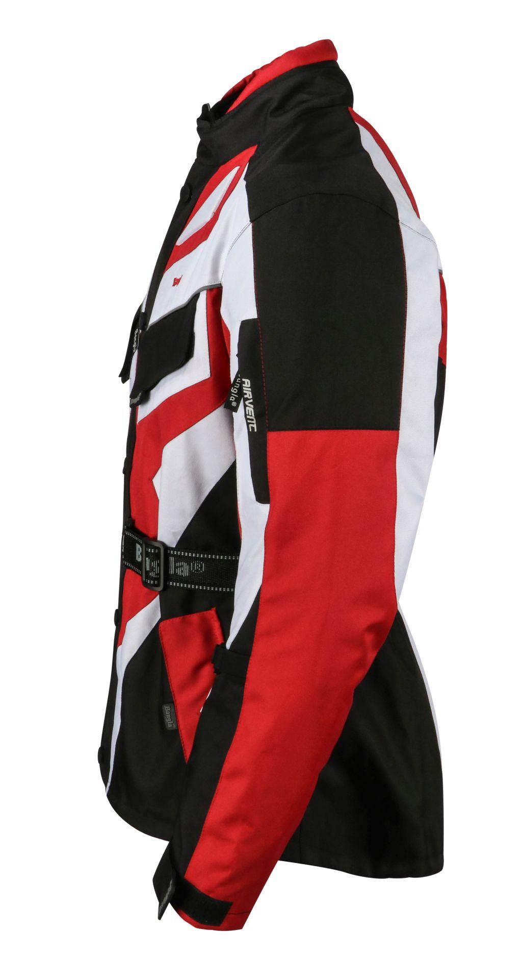 Bangla Motorrad Jacke Motorradjacke Textil Cordura rot schwarz weiss S - 6 XL