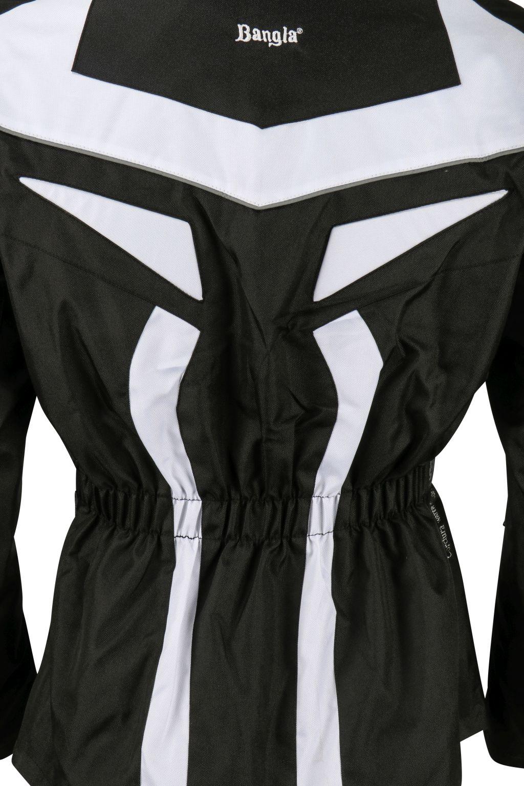 Bangla Motorrad Textil Jacke Cordura schwarz weiss S - 6 XL