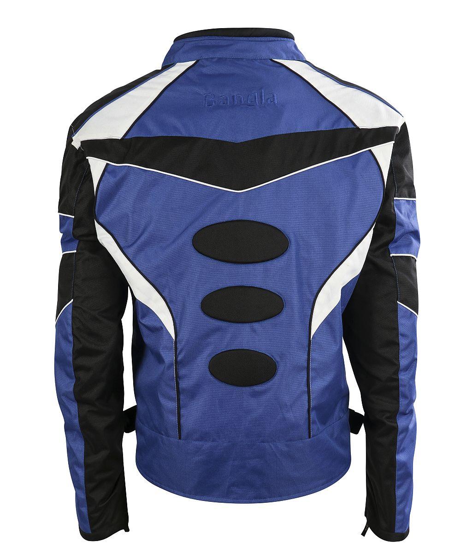 Motorrad Textil Jacke Motorradjacke kurz blau schwarz weiss M L XL XXL 3 XL 4 XL