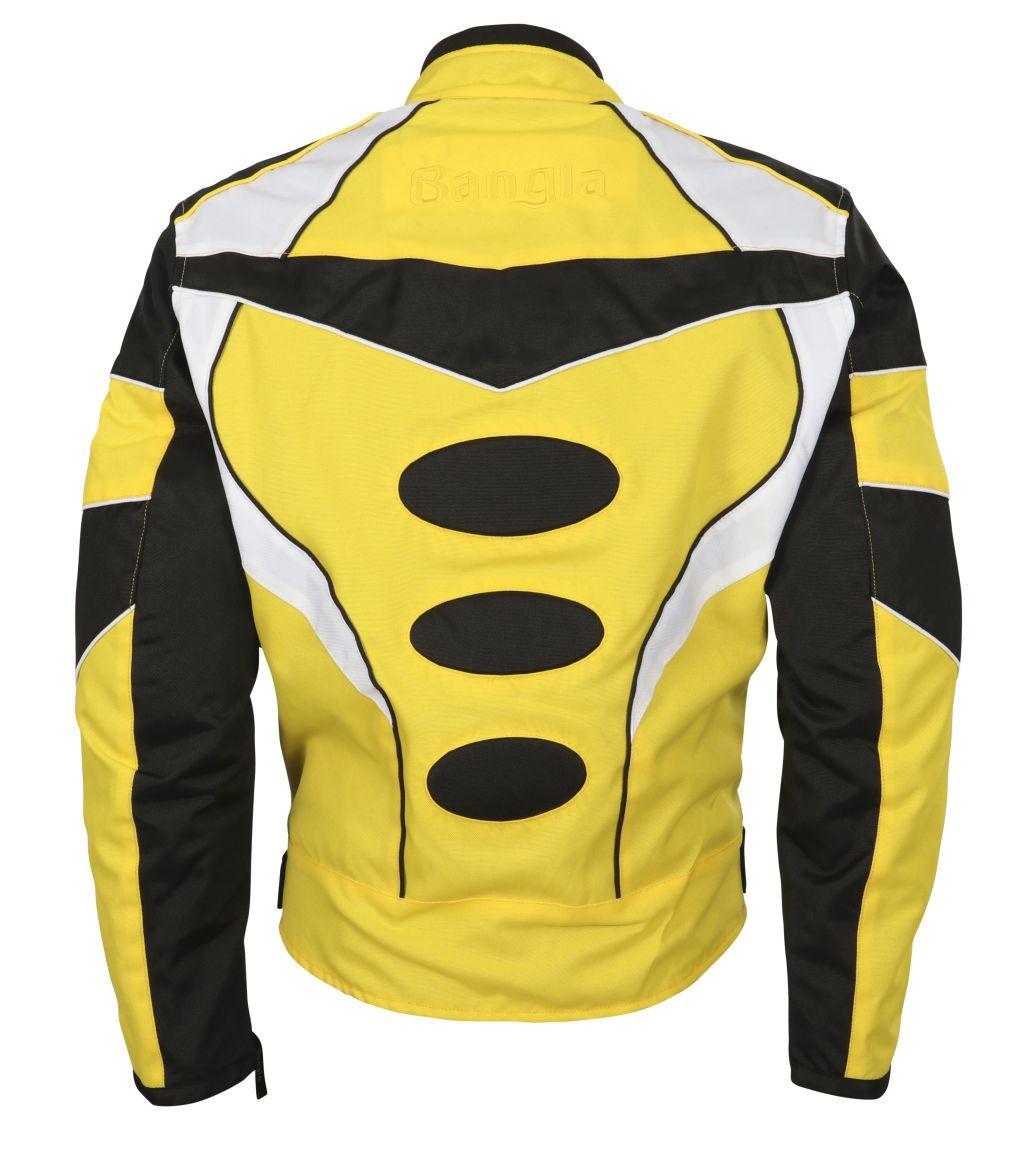 Motorrad Textil Jacke Motorradjacke kurz gelb schwarz weiss M L XL XXL XXXL 4 XL