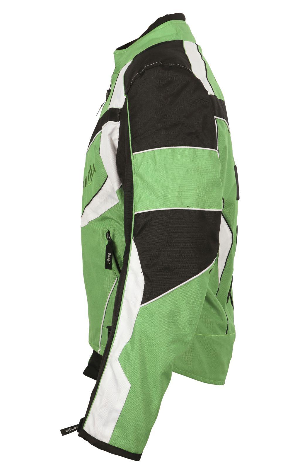 Sport Motorrad Textil Jacke Cordura grün schwarz weiss Motorradjacke M L - 4 XL