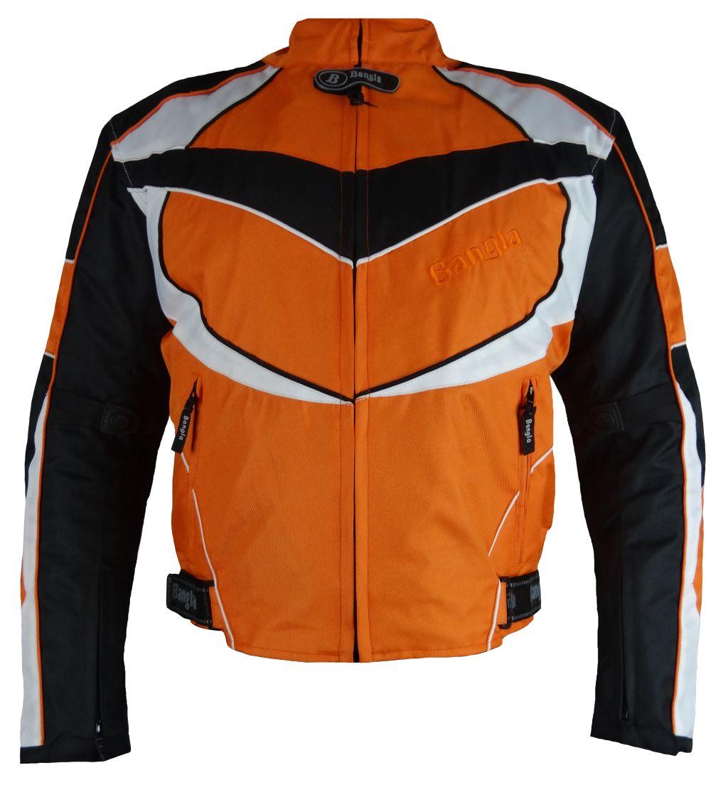Motorrad Textil Jacke Motorradjacke kurz orange schwarz M L XL XXL 3 XL 4 XL