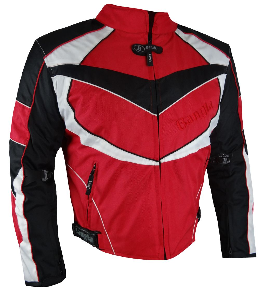 Motorrad Textil Jacke Motorradjacke kurz rot schwarz weiss M L XL XXL XXXL 4 XL
