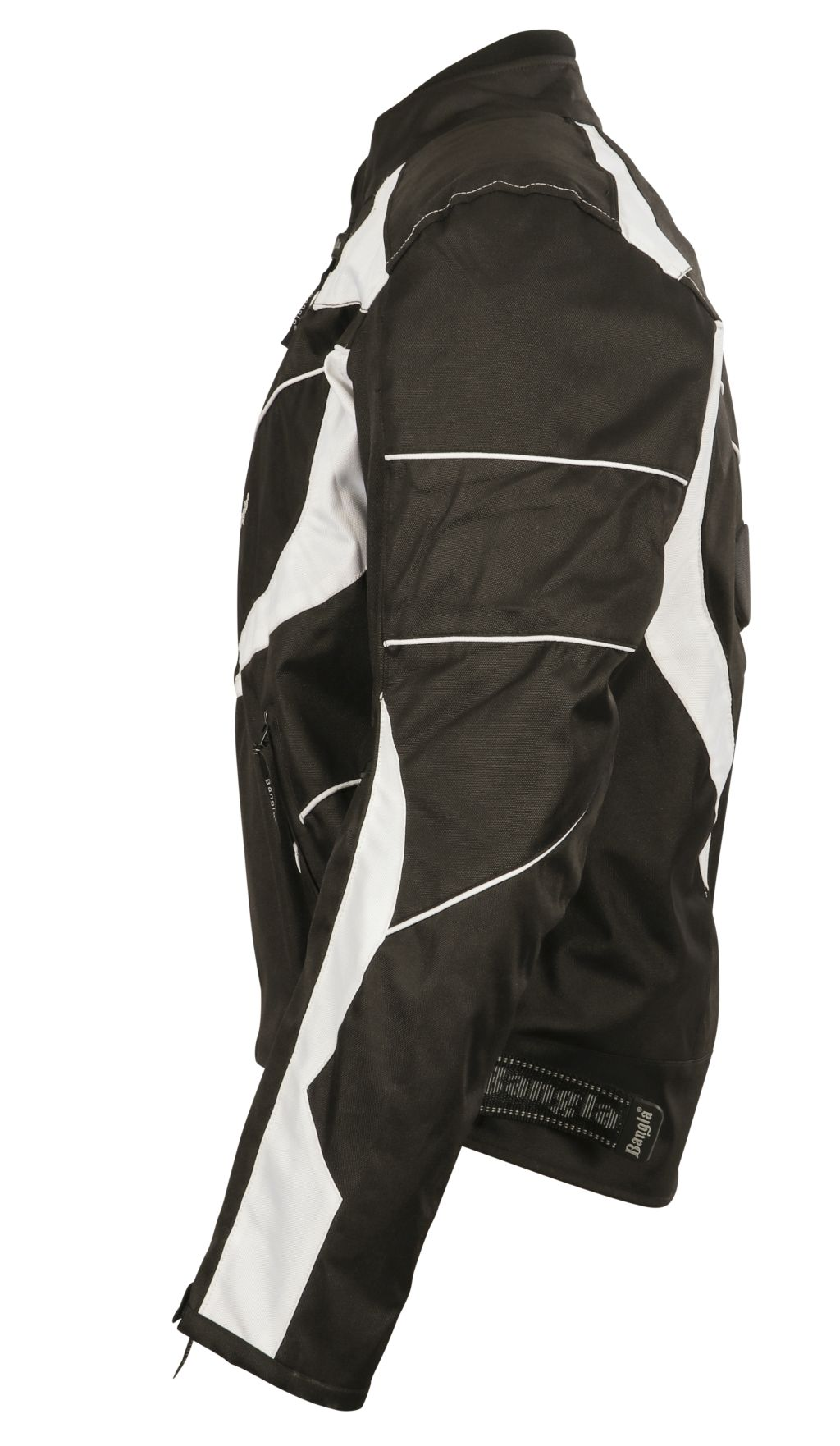 Motorrad Textil Jacke Motorradjacke kurz schwarz weiss M L XL XXL XXXL 4 XL