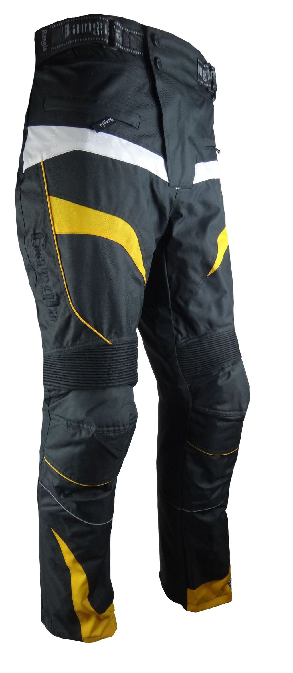 Bangla Motorrad Hose Motorradhose Textil  Cordura schwarz gelb S M L- 6XL