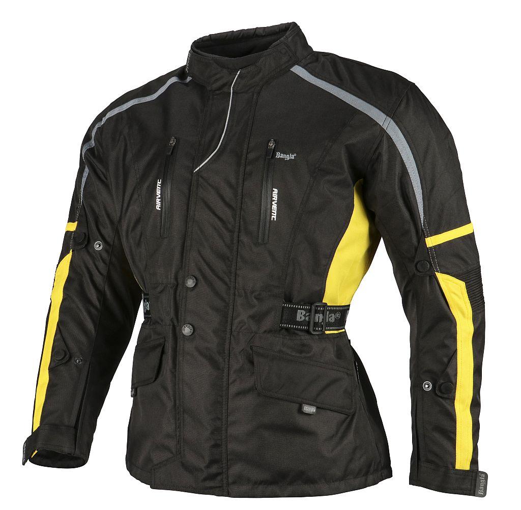 Bangla Motorradjacke Motorrad Jacke Textil Cordura schwarz gelb grau M - 6 XL