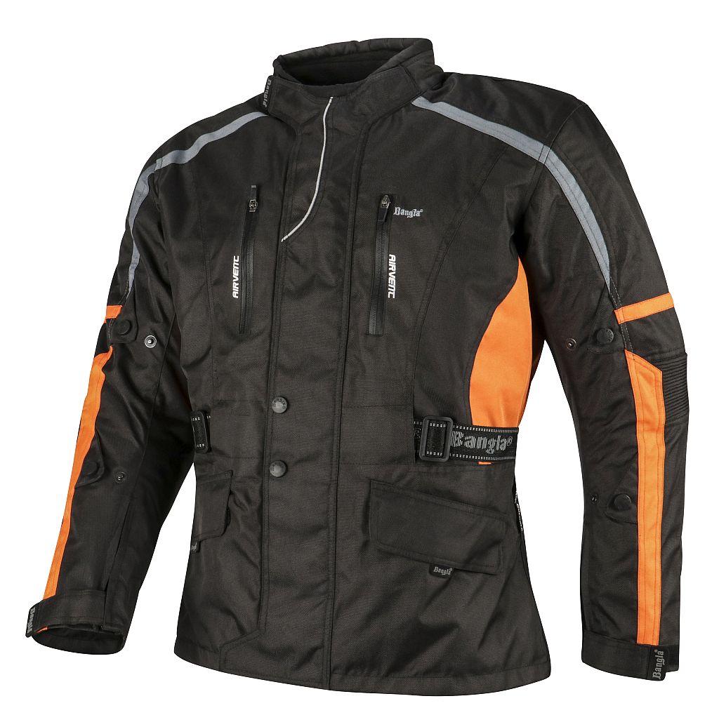 Bangla Motorradjacke Motorrad Jacke Textil Cordura schwarz orange grau M - 8 XL