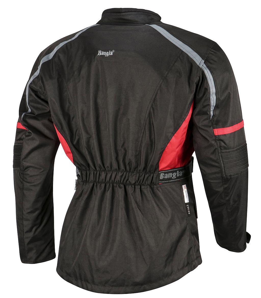 Bangla Motorradjacke Motorrad Jacke Textil Cordura schwarz rot grau M L XL- 6 XL