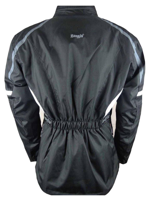 Bangla Motorradjacke Motorrad Textil Jacke Cordura schwarz weiss grau M - 6 XL